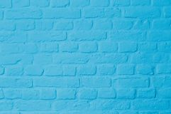 Pastell bright blue colored brickstone wall. Brickstone wall full frame, pastell blue colored, image background royalty free stock photo