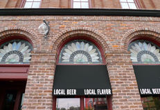 Bricktown bryggerifasad, Fort Smith, Arkansas Arkivfoto