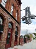 Bricktown bryggerisignage, Fort Smith, Arkansas Arkivfoton