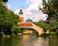 Bricktown Canal in Oklahoma City Royalty Free Stock Photography