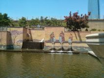 Bricktown canal Oklahoma City Royalty Free Stock Photo
