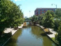 Bricktown canal Oklahoma City Royalty Free Stock Photos