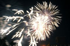 Bricktown Fireworks II Royalty Free Stock Photos