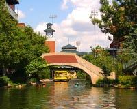Bricktown Kanal im Oklahoma City Lizenzfreie Stockfotografie