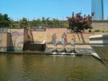 Bricktown kanaloklahoma city Royaltyfri Foto