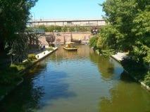 Bricktown kanaloklahoma city Royaltyfri Fotografi