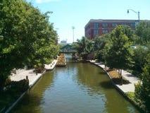 Bricktown Oklahoma kanałowy miasto zdjęcia royalty free