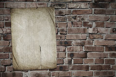 brickwall纸张 库存照片