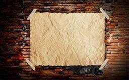 brickwall καφετής τρύγος εγγράφ&omicro Στοκ φωτογραφία με δικαίωμα ελεύθερης χρήσης
