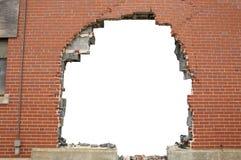 brickwall που σπάζουν ανασκόπηση Στοκ Εικόνα