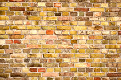 brickwall χρωματισμένος πολυ Στοκ φωτογραφία με δικαίωμα ελεύθερης χρήσης