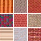 Brickwall архитектуры текстуры стены предпосылки здания или stonewall с текстурированными плиткой и кирпичной кладкой толя для то Стоковые Изображения