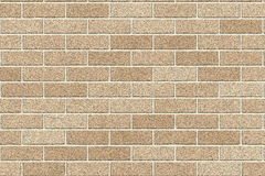 Brickwall. Yellow brown brickwall for house Royalty Free Stock Images