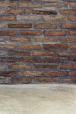 Brickwall as Background for Product Placement Royalty Free Stock Photo