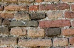 Brickwall av den gamla slotten Fotografering för Bildbyråer