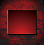 Brickwall background with frame. Vector brickwall background with frame stock illustration