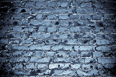 Brickwall bleu photo libre de droits