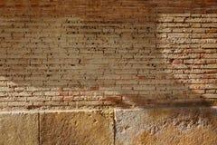 Brickwall bricks wall in Valencia Spain Stock Photo