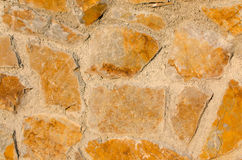 Brickwall. Brown and orange Not be formed Royalty Free Stock Photography