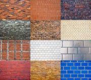 Brickwall collection Stock Photos