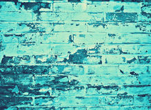 Brickwall cyan Image stock