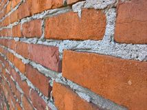 Brickwall de droite photographie stock