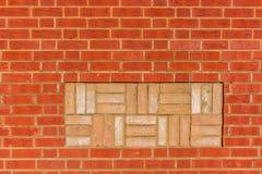 Brickwall decorado Fotografia de Stock Royalty Free