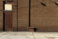 Brickwall en Schaduwen stock foto