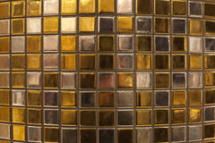 Brickwall in gild and silver Stock Images
