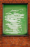 Brickwall with grungy blind Royalty Free Stock Images