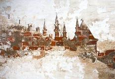 Brickwall-Hintergrund Kasan der Kreml stockfotografie