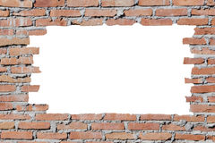Brickwall with hole Royalty Free Stock Images
