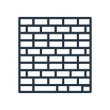 Brickwall icon vector isolated on white background, Brickwall sign. Brickwall icon vector isolated on white background, Brickwall transparent sign vector illustration
