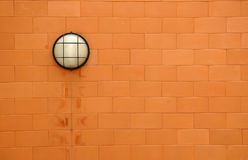 brickwall lampa Fotografia Royalty Free