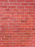 Brickwall med röda tegelstenar royaltyfria foton