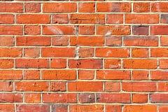 Brickwall orange bien saturé image stock