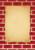 Brickwall parchment Stock Image