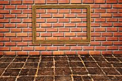 Brickwall pattern wall Royalty Free Stock Image