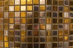 brickwall pozłoty srebro Obrazy Stock