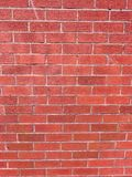 Brickwall with red Bricks royalty free stock photos