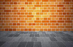 Brickwall sidewalk Stock Images