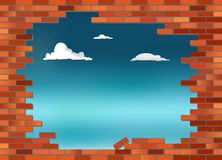 Brickwall sky Stock Images