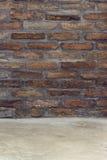 Brickwall som bakgrund för produktplacering Royaltyfri Foto