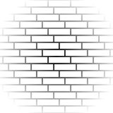 Brickwall / stone wall repeatable pattern with irregular tiling. Royalty Free Stock Photo