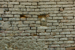 Brickwall in town Stock Photos