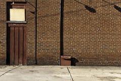 Brickwall und Schatten Stockfoto