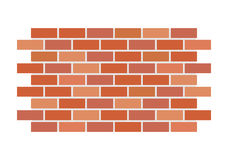 Brickwall. Vector illustration of the brickwall as a background royalty free illustration