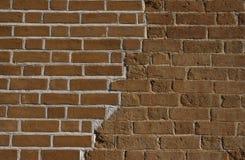 Brickwall velho renovado Imagens de Stock Royalty Free