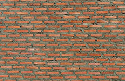 Brickwall. Waiting for the cement brick walls plastered Stock Photo