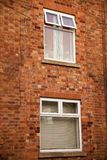 Brickwall with window texture. With copy text Royalty Free Stock Photography